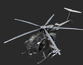 AH6 AH-6 LittleBird MD500 MD530 Helicopter 3D asset