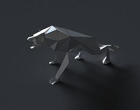 VR / AR ready low-poly 3D printer model wolf