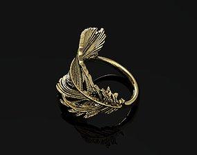 3D print model wing ring wealth