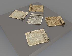 newspaper 3D folded