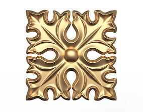 Rosette Carved Decoration CNC 017 3D model