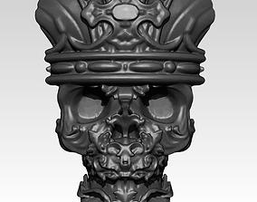 3D printable model King Skull Pendant Jewel
