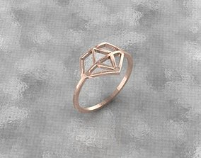 3D printable model brilliant symbol ring
