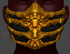 3D print model Scorpion Mask from Mortal Kombat 2