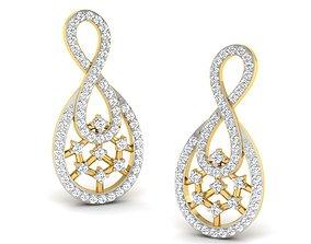 studs jewel Women earrings 3dm render detail