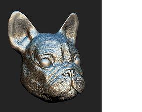 3D Sculpted dog face