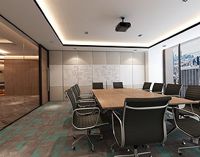 Conference room with pantry and meeting 3D