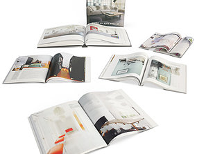 3D Opened Books And Magazines