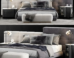 3D Minotti Lawrence Bed 3