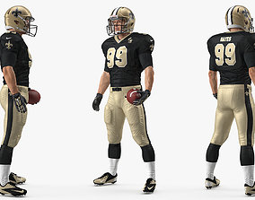 American Football Player New Orleans Saints Standing 3D
