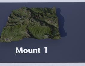 Mountain Set 1 3D asset