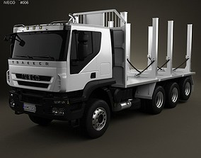 3D model Iveco Trakker Log Truck 4-axis 2012