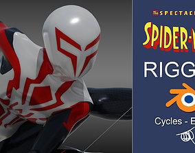 Spectacular Spider - Man 2099 White 3D model