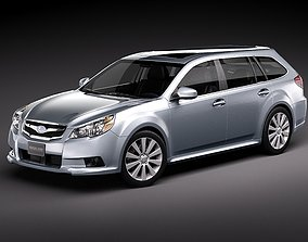 Subaru Legacy Station Wagon JDM 2010 3D Model