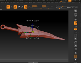 Alien Tail - Predator Dagger 3D printable model