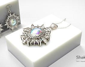 3D print model set opal