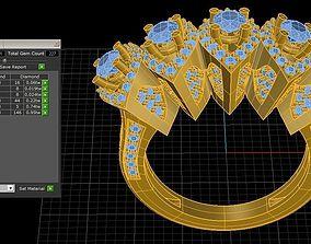 3D printable model Five Stone Ring