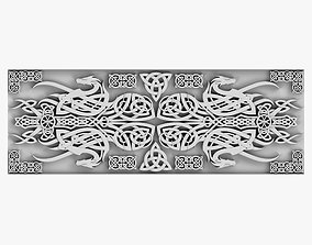 3D model baroque Celtic Ornament