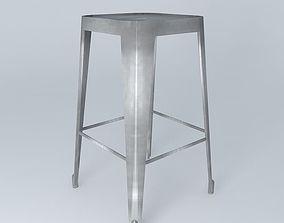3D chair metallic Bar stool