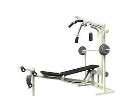 Gym Weight Bench 3D model VR / AR ready