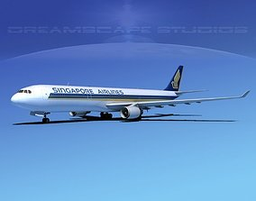 3D model Airbus A330-300 Singapore Airlines