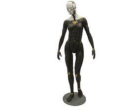 Biomechanical female robot 20cm 3D print model