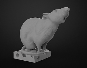 Rat on Cheese 3D printable model