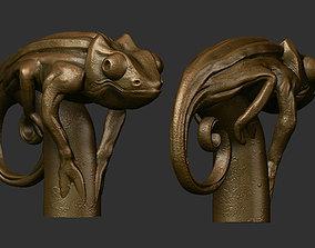 Cane chameleon 3D printable model
