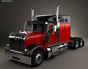 3D International 9900i Tractor Truck 2004