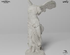 Winged Victory of Samothrace Sculpture VR AR 3D model 1