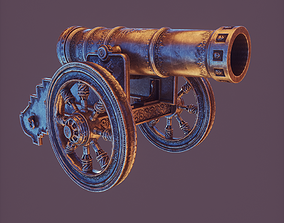 3D model Game Ready Medieval Cannon
