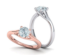 1ct Diamond Engagement ring Solitaire ring 3dmodel