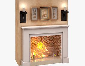 3D model Fireplace 003
