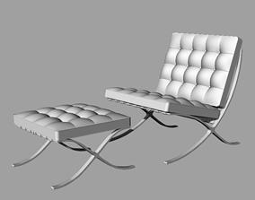 furniture Barcelona chair 3D