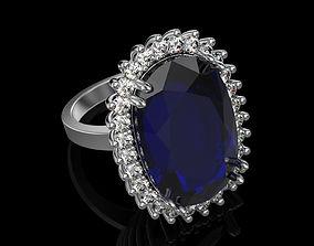 3D printable model Big sapphire ring