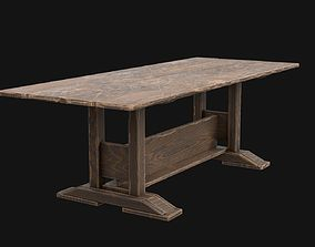 Medieval Table Low Poly 3d Model - UE4 low-poly