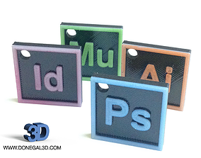 3D printable model Adobe Creative Cloud Icons