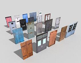 big low poly doors colection 3D model