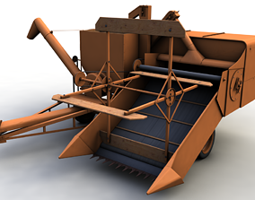 3D model ALLIS CHALMERS 60 ALL CROP HARVESTER 1948