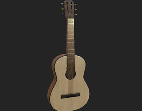 3D model game-ready Guitar sound