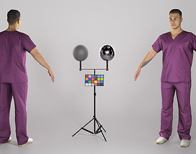 3D model Handsome young doctor in A-pose 315