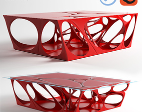 Fractal Table 3D asset
