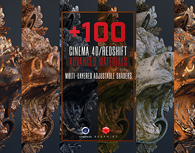 3D model 100 C4D Redshift Advanced Materials