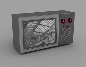 3D asset Old times TV