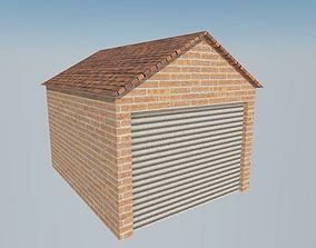 3D asset brick garage