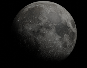 The Moon - made in Blender 3D asset game-ready