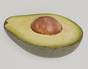 3D asset Half Avocado photorealistic photoscan