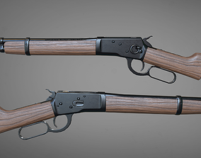 Winchester 1892 3D model rigged