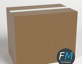 Cardboard box closed 3D