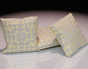 3D asset Contemporary colourful cushion design 7